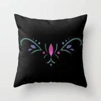 Anna Coronation Embroide… Throw Pillow