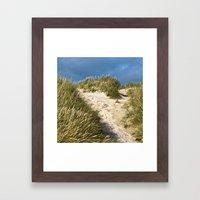 Scandinavian Sand Dune of Henne in Denmark Framed Art Print