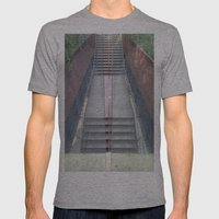 Stairs Mens Fitted Tee Athletic Grey SMALL