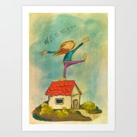 Happy Girl Art Print
