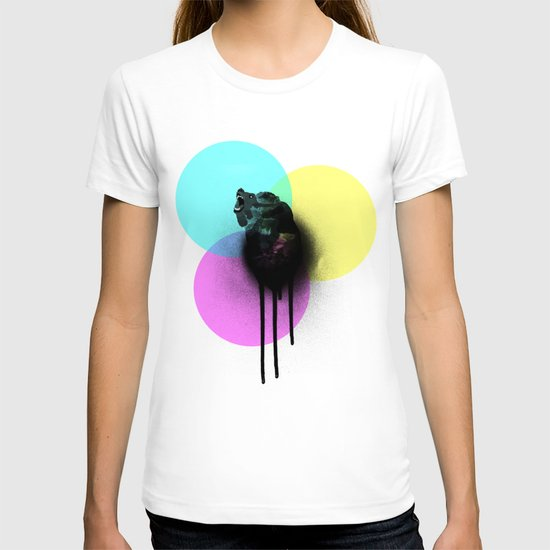 CMYK Bear Graffiti Poster T-shirt