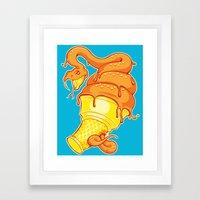 Snake Cone Framed Art Print