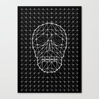 Triangle and Line Art Skull Canvas Print