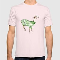 Llama In A Green Deer Sw… Mens Fitted Tee Light Pink SMALL