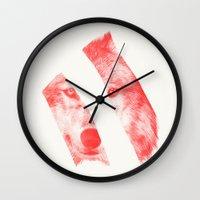 Red By Eric Fan & Garima… Wall Clock