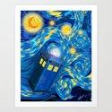 Blue Phone box Starry the night iPhone 4 4s 5 5c 6, pillow case, mugs and tshirt Art Print