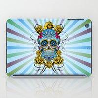 Sugar skull- Day of the dead- blue iPad Case