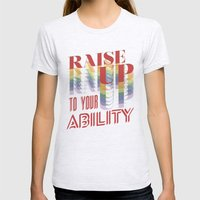 Raise Up To Your Ability Womens Fitted Tee Ash Grey SMALL