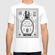 Legend of Zelda Green Chu Potion Advertisement White SMALL Mens Fitted Tee