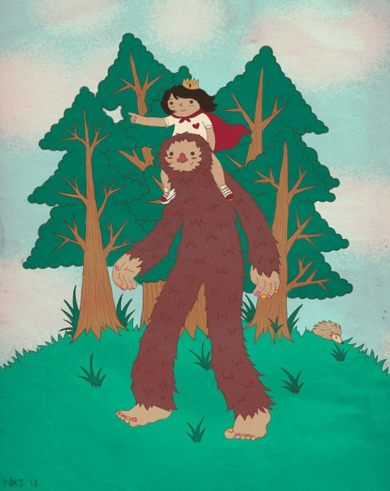 The Bigfoot Adventure Art Print