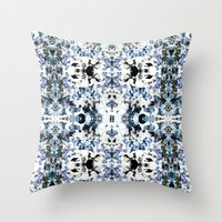 Kaleidoscope Crystals Throw Pillow