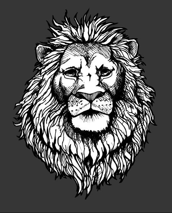 Lion (on dark) Canvas Print