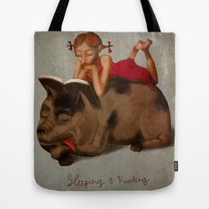 Sleeping & Reading Tote Bag