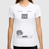 (500) Days Of Summer Womens Fitted Tee Ash Grey SMALL