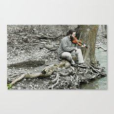 Fiddler on the Creek Canvas Print