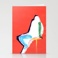 sitting figure Stationery Cards