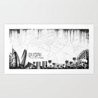 Dubaï Art Print