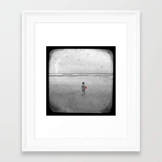 Little Red Sailboat - Through The Viewfinder (TTV) Framed Art Print