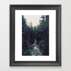 Oregon x Rainier Creek Framed Art Print