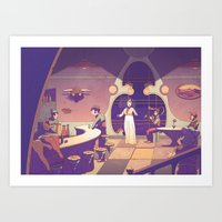 Desert bar Art Print