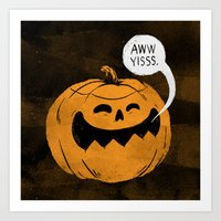 Pumpkin Season Art Print