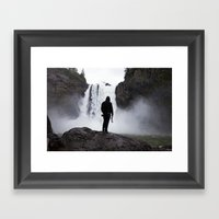 Twin Peeks Framed Art Print