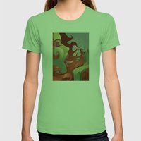 IVY's KISS Womens Fitted Tee Grass SMALL