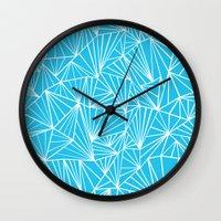 Ab Fan Electric Blue Wall Clock