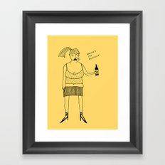 don't stop... Framed Art Print