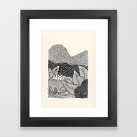 Mini Mountain  Framed Art Print