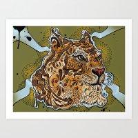 UP TIGER HEAD Art Print