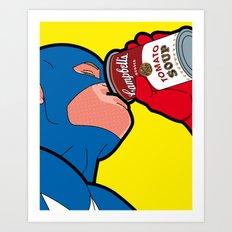 The secret life of heroes - Captain Soap Art Print