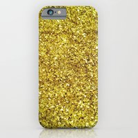 GOLD GLITTER iPhone 6 Slim Case