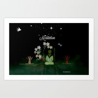 Meditaition by Sherriofpalmsprings Art Print