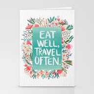 Eat Well, Travel Often B… Stationery Cards