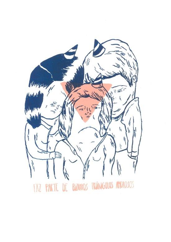 bizarre love triangles Art Print