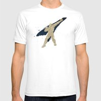 Grabbing Memories (Homage to Abel from Street Fighter) Mens Fitted Tee White SMALL