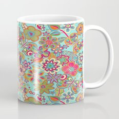 My flowers and butterflies in blue.  Mug