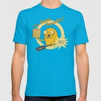 Cooking Time Mens Fitted Tee Teal SMALL