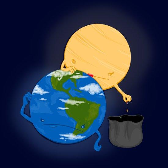 Earth Head Lice Art Print