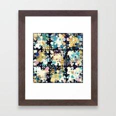 Textural Circles Abstrac… Framed Art Print