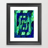 Framed Art Print featuring Nature In Green Blue 2 by Costa