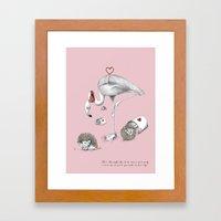 Flamingo Croquet Framed Art Print