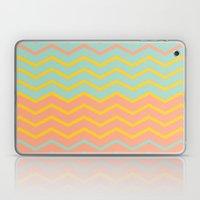 Colorful Chevron On Peac… Laptop & iPad Skin