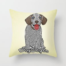 Dog Style Throw Pillow