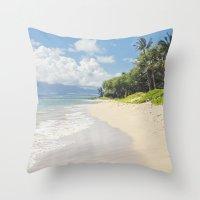 Kawililipoa Beach Kihei … Throw Pillow