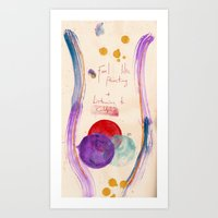 Painting & Coldplay Art Print