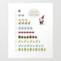 Woodland Counting Art Print