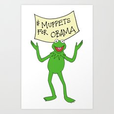 Muppets for Obama Art Print