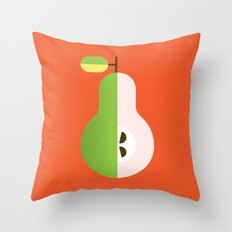 Fruit: Pear Throw Pillow